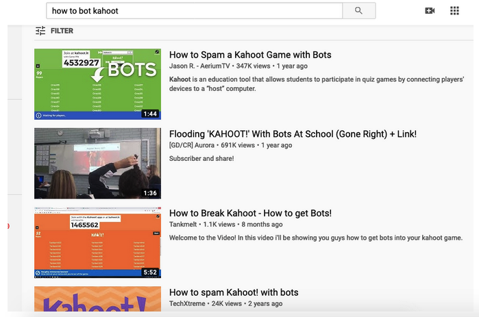 How to stop kahoot bots