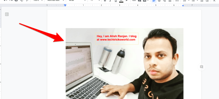 How to Put Text Over an Image in Google Docs?