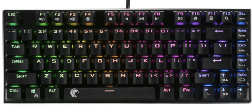 E-Element Z-88 RGB 60% Mechanical Gaming Keyboard, Blue Switch, LED Backlit, Water Resistant, Compact 81 Keys Anti-Ghosting for Mac PC-min